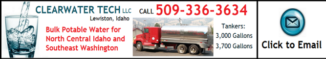 ClearWater Tech LLC Bulk Potable Water Hauler in Idaho